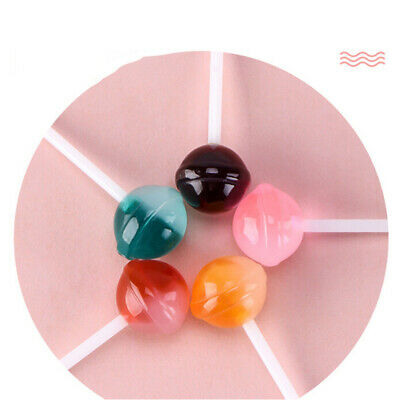 5pcs Dollhouse Miniature Resin Simulation Food Miniature Lollipops Candy Model !