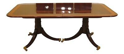 L30426EC: BAKER Stately Homes Collection Banded Mahogany Dining Room Table