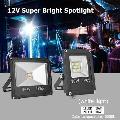 IP65 Waterproof LED Projector Flood Light 12V 6500K Outdoor Wall Safety Lights