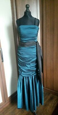 CACHE Evening/ball/prom/Bridesmaid dress size 8 teal and black