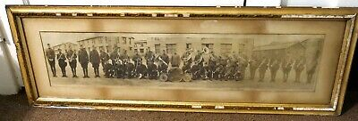 Antique WWI Era, Panoramic Photograph, 1st National Army Band, 304th, Cirkut