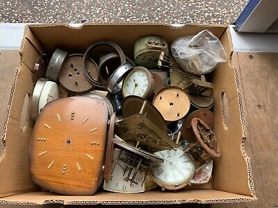 Box of Clocks for Parts Spares Repairs