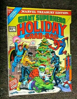 Marvel Treasury edition 1975 no.8 GIANT SUPERHERO HOLIDAY GRAB-BAG  8.5 VF+