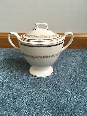 Vintage Homer Laughlin Eggshell Georgian Sugar Bowl with Lid EUC OPEN ROSE 1947