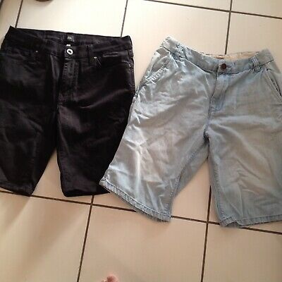 Two Pairs Of Mens Denim Shorts In Size 32 Inch Waist River Island And Next
