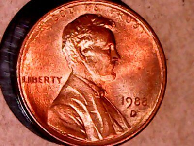 1988-D Lincoln Cent ***NICE COLLECTORS BU CONDITION *** SEE PHOTOS
