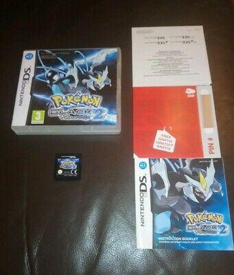 Pokemon BLACK Version 2. Nintendo DS Game, Boxed with Instructions.
