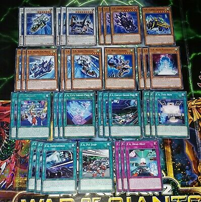 YUGIOH CARDS - 53 Card F A Dawn Dragster Set Deck Core - With Rares