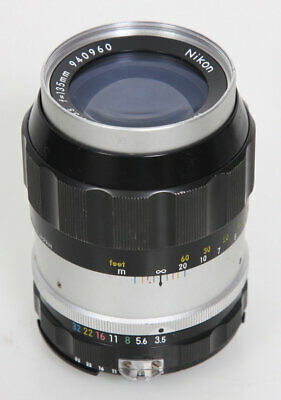 Nikon Nikkor Q 135mm f3.5 Lens - AI Mount, Factory converted Ai'd from Non-AI