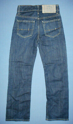 Ralph Lauren Boys Blue Denim Jeans Straight Leg Classic Fit W24 L24