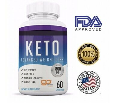 PUREFIT KETO ADVANCED WEIGHT LOSS 60 Capsules, KETOSIS  KETO BURN GOBhB 800mg
