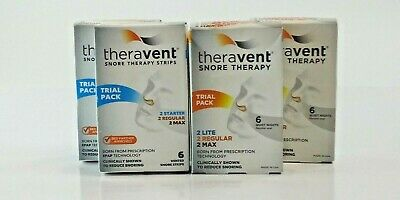 Lot x 4 Theravent Snore Therapy Trial Pack 6 Vented Snore Strips EXP 3/20+ A6