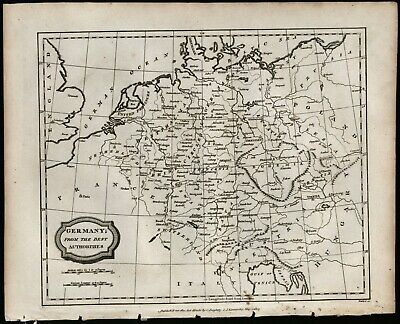 Germany circa 1807 black and white engraving antique map