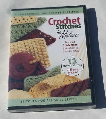 Crochet Stitches In Motion DVD- 3911 Sealed