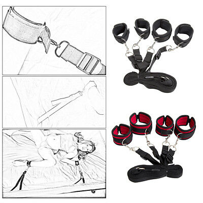 GN_ Bondage Bed Restraint Foot Shackle Handcuffs Adult Games Sex Tool Role Play