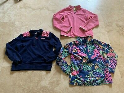 Euc~ 2 Lilly Pulitzer Pullovers & 1 Vineyard Vines Pullover~Size 14