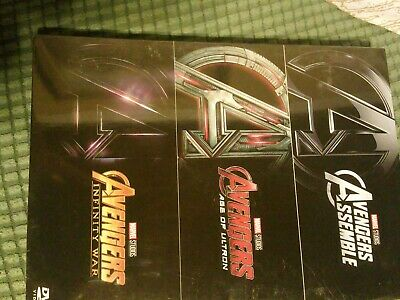 Avengers 3 Movies Trilogy DVD Collection - Assemble Age of Ultron Infinity War