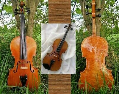 Glorious 1929 Ands Koch Violin w. special old paper note & unusual varnish, 4/4