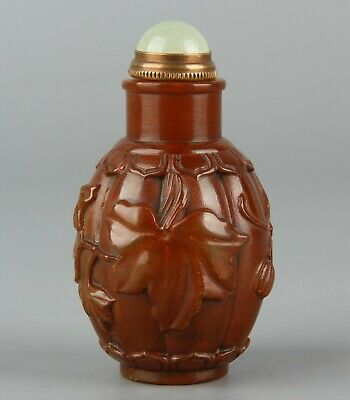 Chinese Exquisite Hand-carved Shoushan Stone snuff bottle seal