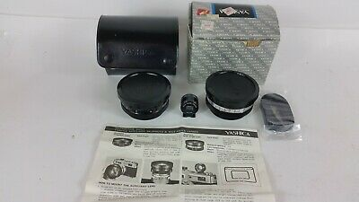 【N MINT】Yashica Yashikor Aux. Telephoto&Wide Angle 1:4 w/Finder from Japan #1776