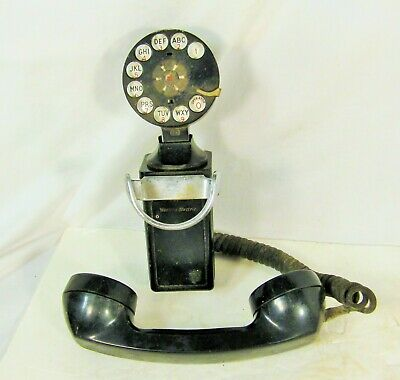 Vintage Space Saver Wall Mount Telephone Western Electric Bell System