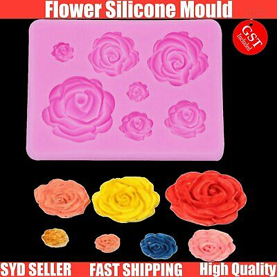 Rose Flower Silicone Mould Clay Soap Fondant Sugarcraft Mold Cake Decorating DIY
