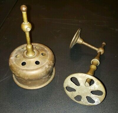 Antique Solid Brass Toothbrush / Cup holder Salvaged Architectural Hardware