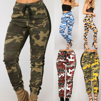 175fe7b16cd7f NEW WOMENS COMBAT Camouflage Pants Cargo Military Camo Casual Long ...