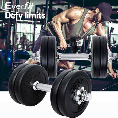 Everfit Fitness Gym Exercise Dumbbell Set Trainning 15kg/20kg/25kg/30kg/35kg