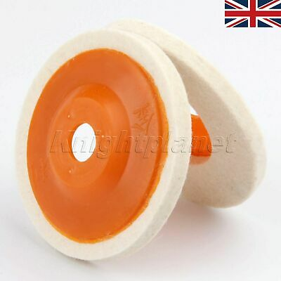 "4"" Woodwork Buffing Abrasive Sanding Disc Wool Felt Polishing Wheel Pad UK SHIP"