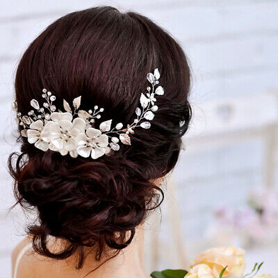 2019 Bridal Hair Accessories Pin Comb Pearl Crystal Head Piece Wedding HeadPiece