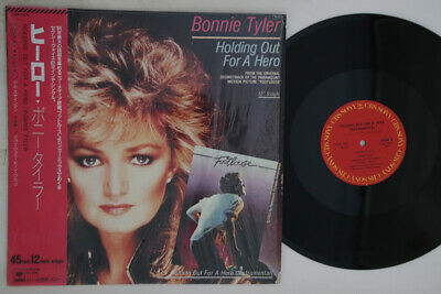 BONNIE TYLER, HOLDING Out for a Hero ~ 1984 CBS 45 +PS