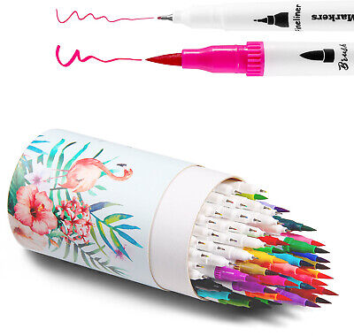 Ohuhu Art Markers Dual Tips Colouring Brush and amp; Fineliner Pens (60 Colours)