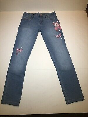 Girls TCP The Childrens Place Size 10 Butterfly Jeans EUC