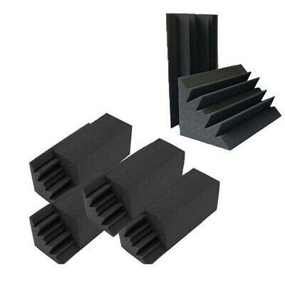 New 8 Pack of 4.6 in X 4.6 in X 9.5 in Black Soundproofing Insulation Bass K4X6