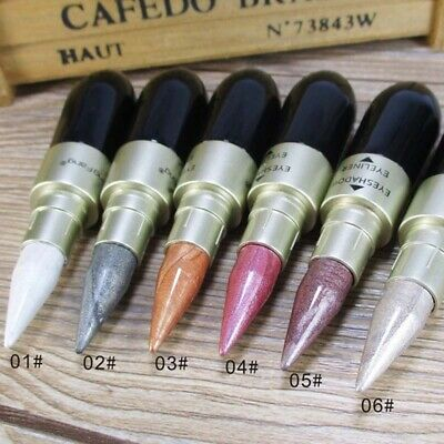 2 In 1 Liquid Eyeliner Pen+Eyeshadow Stick Eye Makeup Glitter Women Fashion Acc
