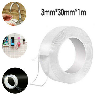 1Roll Double-sided Grip Tape Traceless Washable Adhesive Tape Nano Invisible Gel