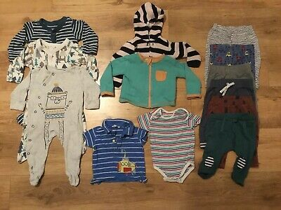 Ex Store Baby Boys Fire Engine Nautical Romper All in One x 2 Age 0 3 6 Months