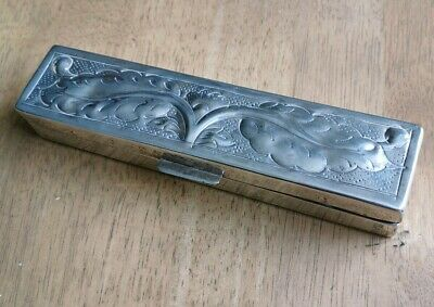 Beautiful, Vintage, White Metal /Silver Box. Possibly Navajo Indian?