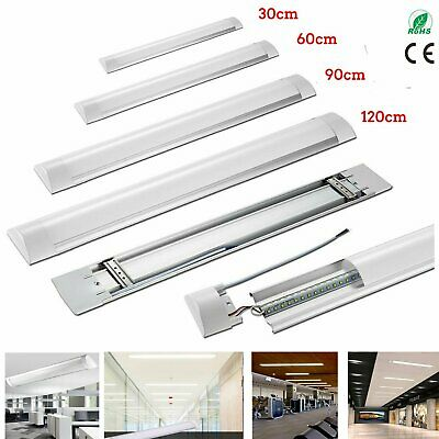LED Batten Tube Light Linear Slimline Panel Ceiling Lights Wall Shed 2FT 3FT 4FT