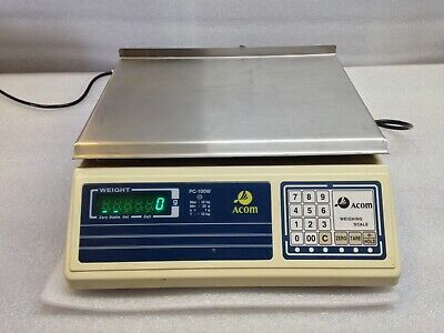 Acom PC-100W Precision Weighing Scale - 10kg Max, 20g Min - Used - Working