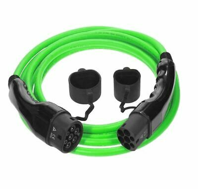 Type 2 to Type 2 Electric Car (EV) Cable | 32amp 7.2kW 5m ** 5 Year Warranty **