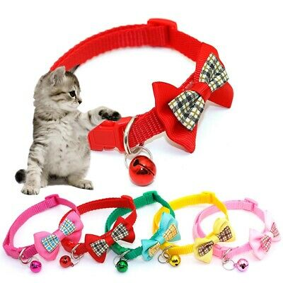 1Pc Pet Collar Safety Neck Strap Bowknot Collar Fashion Dog Cat Ringing Necklace