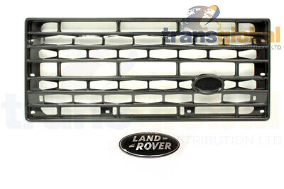 Adventure Style Gloss Black Grille & Badge for Land Rover Defender