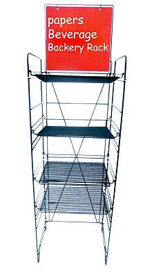 Beverage Display Soda Rack Wire Metal Stand Floor Display Shelves Merchandise
