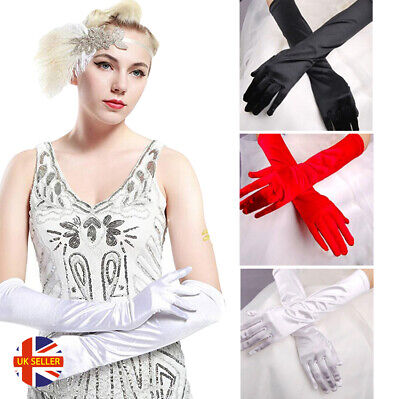 Womens Sexy Wedding Bride 1920's Winter Lace Long Above Elbow Fetish Gloves