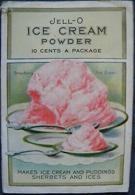 Vintage 1920's Jell-O Ice Cream Powder Puddings Sherbets Dessert Booklet