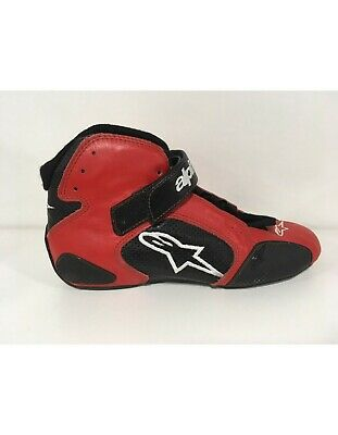 Alpinestars Tech 1T Leather FIA Race/Rally Boots - eur 43- Red/Black- Clearance