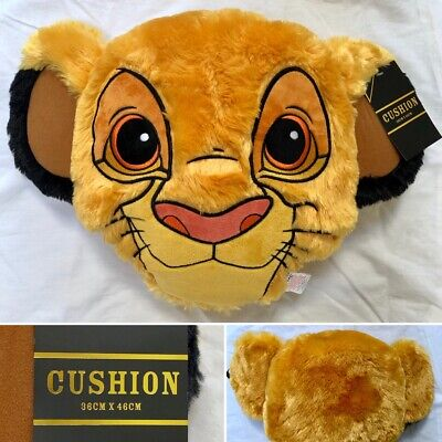 Disney The Lion King Simba Lion Fluffy Character Cushion - Brand New - Primark