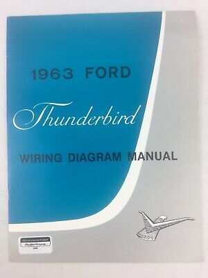 1963 Thunderbird Reproduction Wiring Diagram Manual by TBHQ Excellent